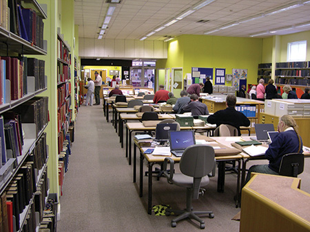Lincolnshire Archives Search Room.